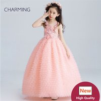 Wholesale Taffeta Wedding Gown China - Blush wedding dress Prom dresses Girls pageant dress High quality designer dresses real photo China wedding dress