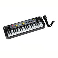 Wholesale Educational Electronic Toys For Children - Mini Electronic Multifunctional 37 Keys Electone Keyboard Musical Toys with Microphone Educational Toys for Children Beginners 2107227