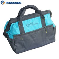 Wholesale Electrical Storage - Wholesale- 14'' Multifunction Handheld Storage Tools Bag Utility Bag Electrical Package Oxford Canvas Waterproof With Carrying Handles