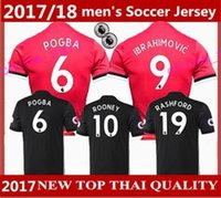 Wholesale Thai Quality Free Shipping - 2017 2018 Man United best Thai Quality home away jerseys 17 18 Ibrahimovic MEMPHIS ROONEY POGBA Soccer jersey Free shipping