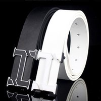 Wholesale Leather Belts For Women Wholesale - Wholesale- White H Designer Luxury Brand Belts for Mens Genuine Leather Male Women Casual Jeans Vintage Fashion High Quality Strap Waist