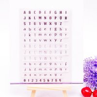 Wholesale Scrapbook Letters - Wholesale- Clear Stamp Scrapbook DIY photo album card hand account chapters rubber product transparent seal stamp letters