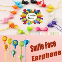 Wholesale Smile Headphones - Fruit Smile Earphone Colorful Earbuds 3.5mm Stereo In-Ear headphones & headphones Universal Earphones For iPhone Samsung SmartPhone