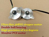 Wholesale Monitor Motors - 4PCS LOT Ultra-thin 2-Phase 4-Wire 36BYG Stepper Motor Double Ball Bearing High Precision 0.9 Degree Monitoring PTZ Motor