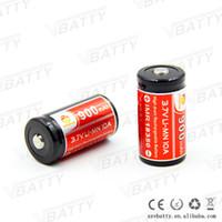 Wholesale Lithium Battery Bank - 900mAh 18350 Li-ion lithium 3.7V Rechargeable Electronic Cigarette Battery Accessory Power Bank Flashlight 18350 Batteries