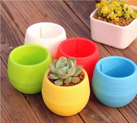 Wholesale New Gardening Flower Pots Small Mini Colorful Plastic Nursery Flower Planter Pots