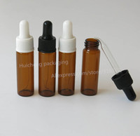 Wholesale Eye Dropper For 15ml Bottles - Wholesale- 50 x 15ML Amber Glass Dropper Bottles glass eye dropper pipette for essential oils aromatherapy lab chemicals