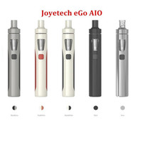 Wholesale Ecigs Ego Kits - 100% Authentic Joyetech eGo AIO Quick Starter Kit 2.0ml Childproof Tank 1500mAh Battery With Colorful LED Ego Aio Pro Vapor Pens Ecigs