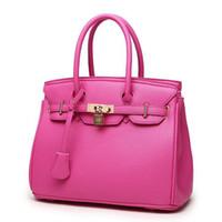 ingrosso borsa arancione-All'ingrosso-Nuovo modo originale Orange Top di alta qualità di lusso Lock Designer borse Famoso marchio reale borsa da donna borse da sera Totes FR028