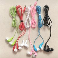 Wholesale Cheap Factory Phones - Factory direct wholesale cheap earbuds earphone in-ear crystal headset round wired earphone Suitable for mobile phone computer mp3
