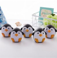 Wholesale Good Penguin - 2017 New Brand 11CM Jumbo Kawaii Cute Penguin Squishy Slow Rising Phone Straps Soft Sweet Charm Scented Bread Cake kid Toy Gift