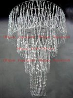 Wholesale Hotel Beads Decoration - Large 4 Tiered Crystal Bead Curtain Diamond Cut Crystal For Wedding Home Hotel Decoration