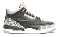 Wholesale Cheap Leather Rivets - 2017 air retro 3 III OG Black Cement 3S Cyber Monday mens sport sneakers running shoe cheap new men basketball shoes shoe with box