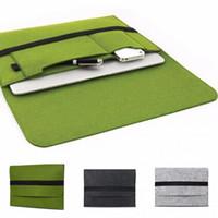 "Wholesale Macbook Pro Wool Felt Sleeve - Wholesale New 11\12\13\15"" Wool Felt Inner Notebook Laptop bag Sleeve case for 11.6 12 13.3 15.4 Macbook air pro retina briefcase cover"