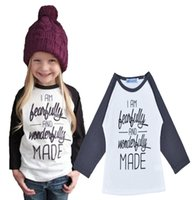 Wholesale Tshirts For Kids Boys - Kids Fashion Tshirts Spring Autumn Pretty Girl Letter Printed Tops For Girls Baby Unisex Long Sleeve Cotton Shirts