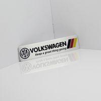 emblèmes de voiture de drapeau achat en gros de-Allemagne drapeau national autocollant de voiture de course ajustement pour Volkswagen Vw Plol Golf 6 métal badge R voiture de sport automobile emblème mince en aluminium métallique