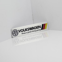 Wholesale glue for aluminum for sale - Group buy Germany National flag Racing Car Sticker Fit For Volkswagen Vw Plol Golf Metal R Badge Motorsport Car Thin metal aluminum Emblem