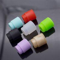 Wholesale Disposable E Cigarette Mouthpiece - Colorful TFV12 Disposable Silica Gel Drip Tip Wide Bore Silicone 510 Mouthpiece E Cigarette fit TFV8 BIG BABY Tank 528 RDA Atomizer