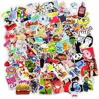 Wholesale Carbon Fiber Vinyl Wholesale - 300 pcs Car Stickers Mixed Style Funny Cartoon Vinyl Decal Car Stying Skateboard Luggage Fridge Laptop Car Cover JDM DIY Sticker