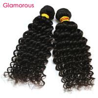 Wholesale mongolian russian mix - Glamorous Virgin Human Hair 3 Bundles Mix Length Malaysian Indian Peruvian Brazilian Hair Weaves Jerry Curly Hair Extensions for black women