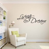Wholesale Dream Sat - New Style For Living The Dream Wall Decal Removable Stickers Art Vinyl Decor Bedroom Sitting Room Quotes Diy
