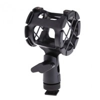 Wholesale Mic Shock Mount - Hot Sale Black ABS Mic Microphone Stand Professional Recording Shock Mount Suspension Clip Holder Mic Bracket With Hot Shoe