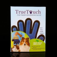 Wholesale Deshedding Pet Glove True Touch For Gentle And Efficient Grooming Removal Glove Bath Dog Cat Brush Comb DHL free ship