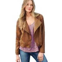 Wholesale Modern Cardigans - Wholesale- Modern Autumn Winter New Women Slim Coat Vintage Cowgirl Lapel Tassel Jacket Cool Zipper Outwear Cardigan Surcoat Abrigo Aug30