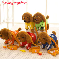 Wholesale Musical Dog Baby Toys - Funny Electronic Plush Toys Musical Singing Walking Electric Toy Dog Pet For Kids Child Baby Gift Red Green for children