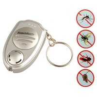 Wholesale Electronic Repeller Insects - Wholesale- Health Good Universal Ultrasonic Anti Mosquito Insect Pest Killer Repellent Repeller Key Ring Shain Keychain Smart Electronics