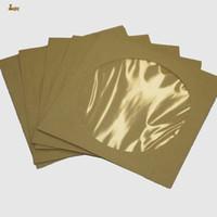 Wholesale Paper Envelope Sleeves - 100pcs lot 12.5cm Square Disc CD Sleeve 90gsm Kraft Paper DVD Bag Cover D Packaging Envelopes type Pack bags wedding party favor