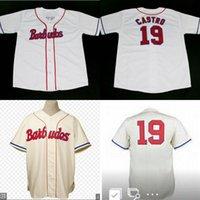 Wholesale Custom 1959 - Los Barbudos 1959 Home Jersey #19 Cartro BARBUDOS TEAM CUBA Jersey BUTTON DOWN Custom Any Name Throwback Baseball Jerseys