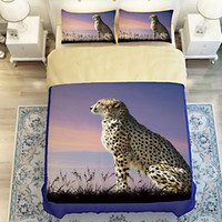 3d tier Leopard, löwe, tiger, wolf 4 / 3pcs bettwäsche bettwäsche set 3d bettwäsche bettbezug bettlaken kissenbezüge voller / twin / königin king size bett
