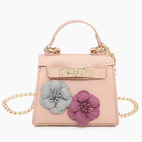 Wholesale little girls purse new - Hot Sale Children's Fashion Handbags Birthday gift for little baby girls Kids Brand New flower Totes Kids mini purse Kid Small bags CK131