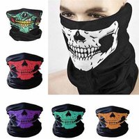 Wholesale Ear Muffs Face Mask - Skull Face Mask Outdoor Sports Ski Bike Motorcycle Scarves Bandana Neck Snood Halloween Party Cosplay Full Face Masks Ear Muffs YYA696