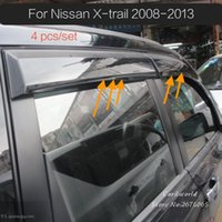 Wholesale Car Sun Shade Covers - For NISSAN X-TRAIL T31 Rogue 2008 to 2013 Smoke Window Visor cover trim Vent Shade Rain Sun Wind Guard car styling Awnings Shelters