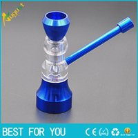 Wholesale Small Hourglasses - Hot sale New style metal hourglass pipe removable cleaning filter screen small stainless steel metal pipe smoking pipe