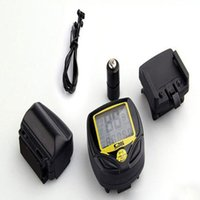 Wholesale Tachometer Bicycle - (Wholesale) 10PCS SD-548C1 Waterproof Lcd Bicycle Computer Wireless Bike Digital Tachometer Hour Odometer 14 Functions