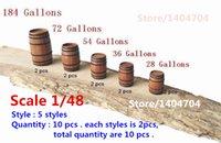 Wholesale Decoration Scales - Wholesale- Scale 1 48 Classical ancient ship model decorations kits wooden brandy casks   Barrel   buckets 5 styles 10 pcs lot
