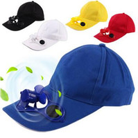Wholesale Solar Powered Fan Hat Wholesale - Solar Power Cap Suntan Hat Cooling Cool Fan For Sport Peaked Caps Outdoor Golf Baseball Fishing Snapbacks Baseball Hats CCA6549 100pcs