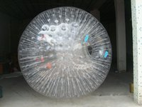 Wholesale Hamsters Free Shipping - Free Shipping Clear Rolling Ball 2.5M Inflatable Human Hamster Ball Inflatable Body Zorb Ball
