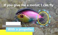 spinners de cauda venda por atacado-2 pcs de Long Casting Spinner Isca de Metal Isca De Pesca com Cauda Da Hélice Truta Carpa Catfish Isca Artificial Gelo Pesca Equipamento De Pesca Ganchos