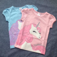 Wholesale Tshirt Year - New children T-Shirt Unicorns Tshirt Fashion Summer Children Cotton Top for 6-14 Years Boys Casual Kids Clothes