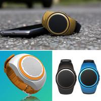 ubit hoparlör toptan satış-Zamanlayıcı Ile Ubit B20 Akıllı Izle Anti-Kayıp Alarm Müzik Spor Mini Bluetooth Hoparlör Desteği TF Kart FM Radyo Eller-Serbest