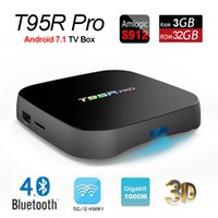 Wholesale t95r pro - Octa core S912 T95R Pro Amlogic IPTV Set Top Box with Android GB RAM GB ROM G Wifi BT4 M Lan Streaming Media Player