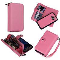 Wholesale Leather Zipper Wallet For S3 - Fo Samsung Galaxy S3 S4 S5 S6 S6 EDGE S7 S7 EDGE NOTE 4 NOTE 5 2 in 1 Magnet Wallet Leather Zipper Money Pocket Photo Frame case 30pcs lot