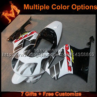 honda vtr sp2 fairings toptan satış-23 renkler + 8 Çiftler için BEYAZ motosiklet kapak HONDA RC51 VTR1000SP1 2000-2006 VTR 1000SP1 00 06 Bodywork Set ABS Plastik ...