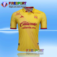 Wholesale Camisetas Futbol Thai Quality - 2016-17 Monarcas Morelia Away Pink Fans Version Soccer Jersey Thai Quality Football Shirts AAA+ Camisetas De Futbol Home Yellow Away Gray