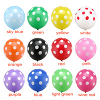 Wholesale High Quality Latex Balloons - Hot High Quality 2.8G 12Inch 100Pcs  Lot Romantic Polka Dot Latex Balloons Party Decoration