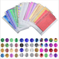 Wholesale diy foil art - 48 Sheet 35cm*4cm Mix Color Transfer Foil Nail Art Star Design Sticker Decal For Polish Care DIY Universe Nail Art Decoretion